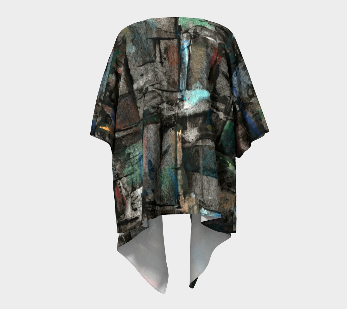 Ancient Ruins Draped Kimono preview #4