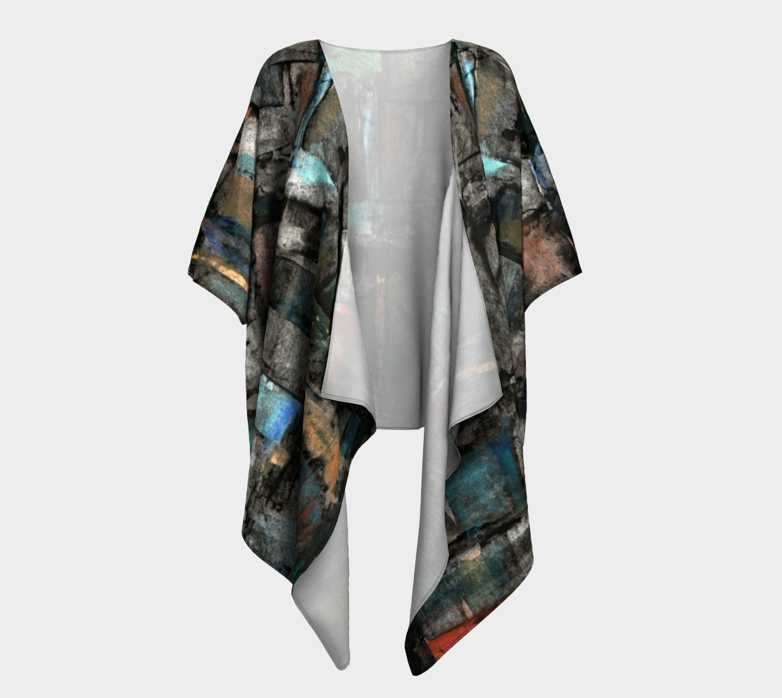 Ancient Ruins Draped Kimono preview #1