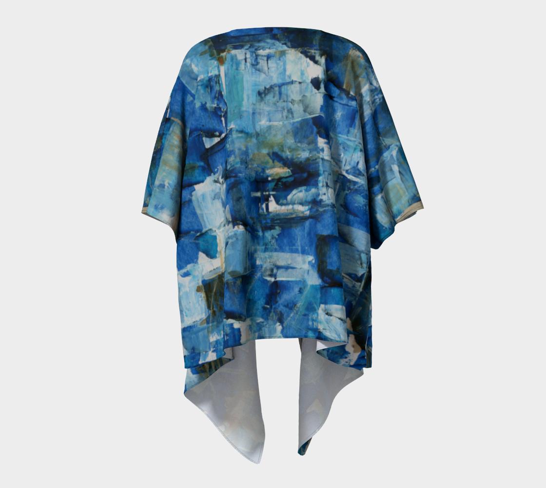Ocean Chess Draped Kimono preview #4