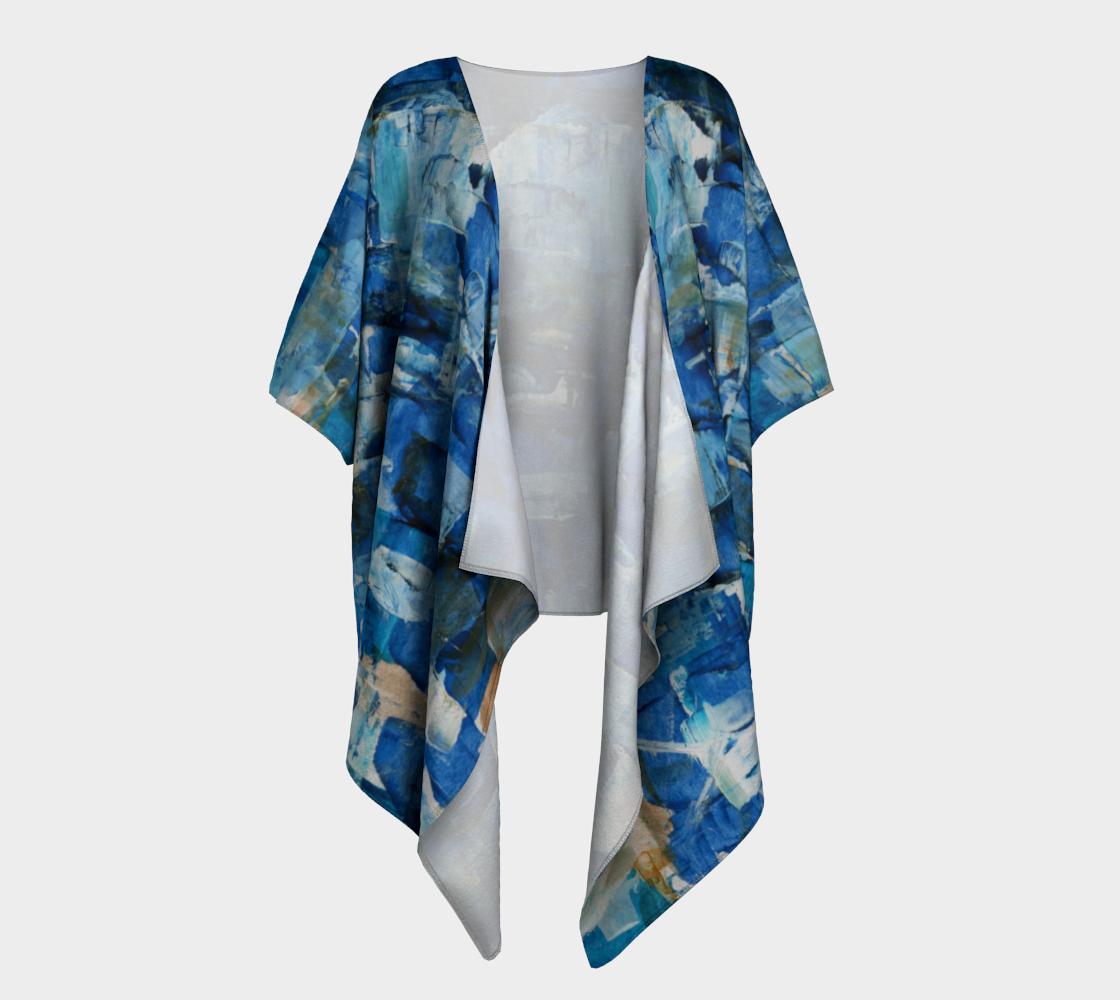 Ocean Chess Draped Kimono preview #1