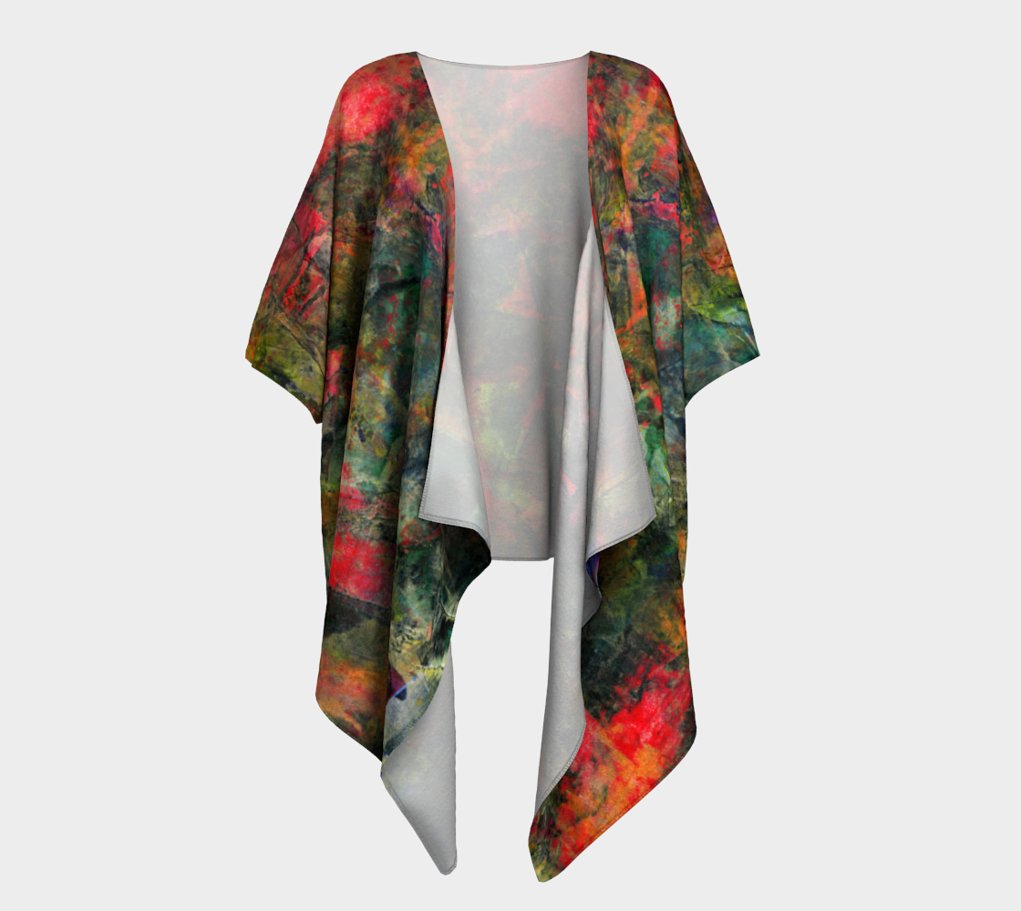 Abstract Garden Draped Kimono preview #1