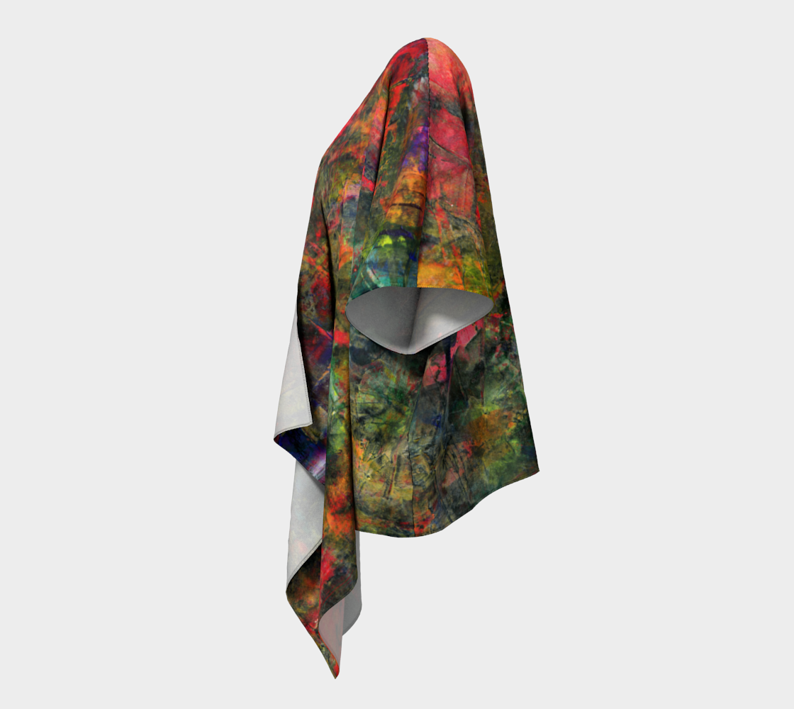 Abstract Garden Draped Kimono preview #2