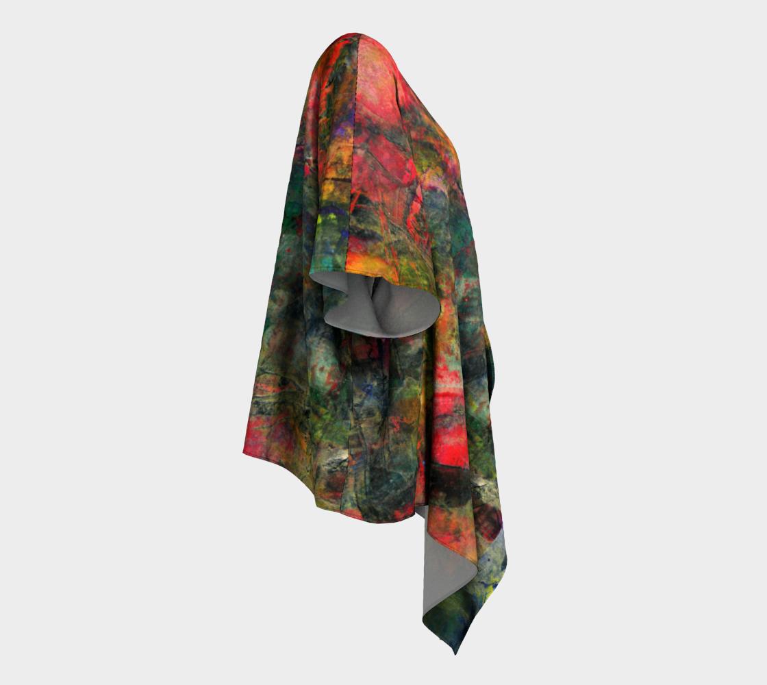 Abstract Garden Draped Kimono preview #3