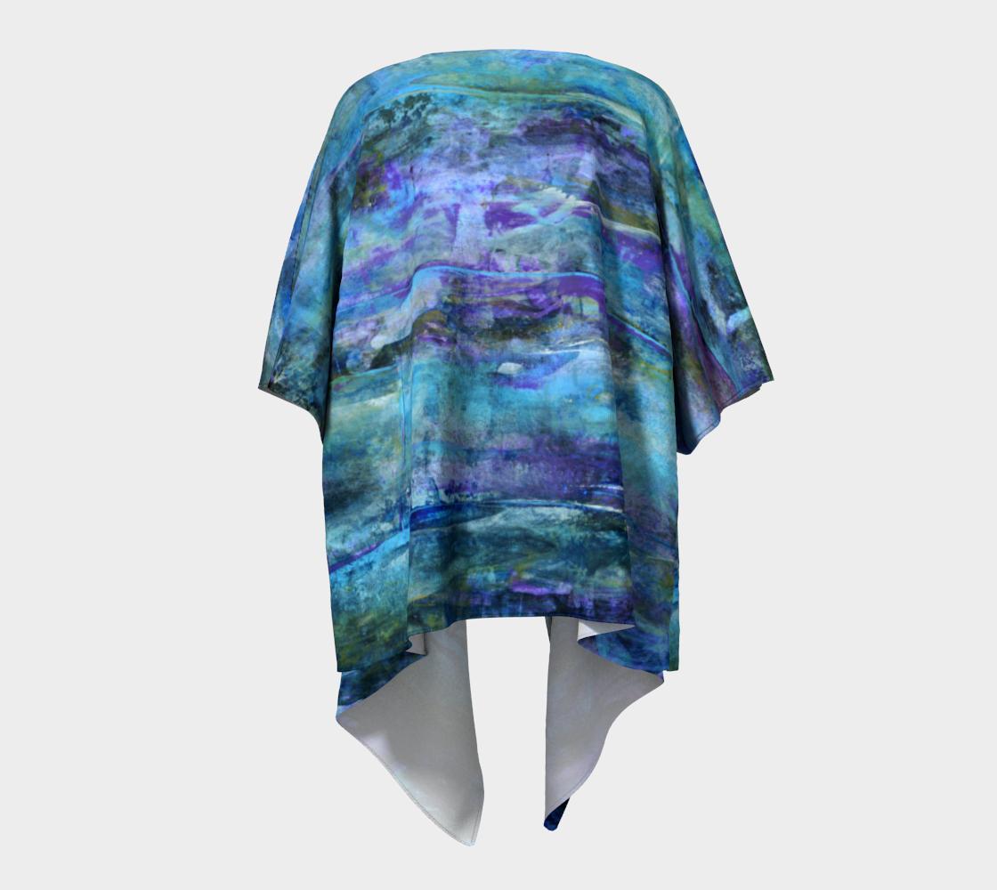 Foggy Night Draped Kimono preview #4