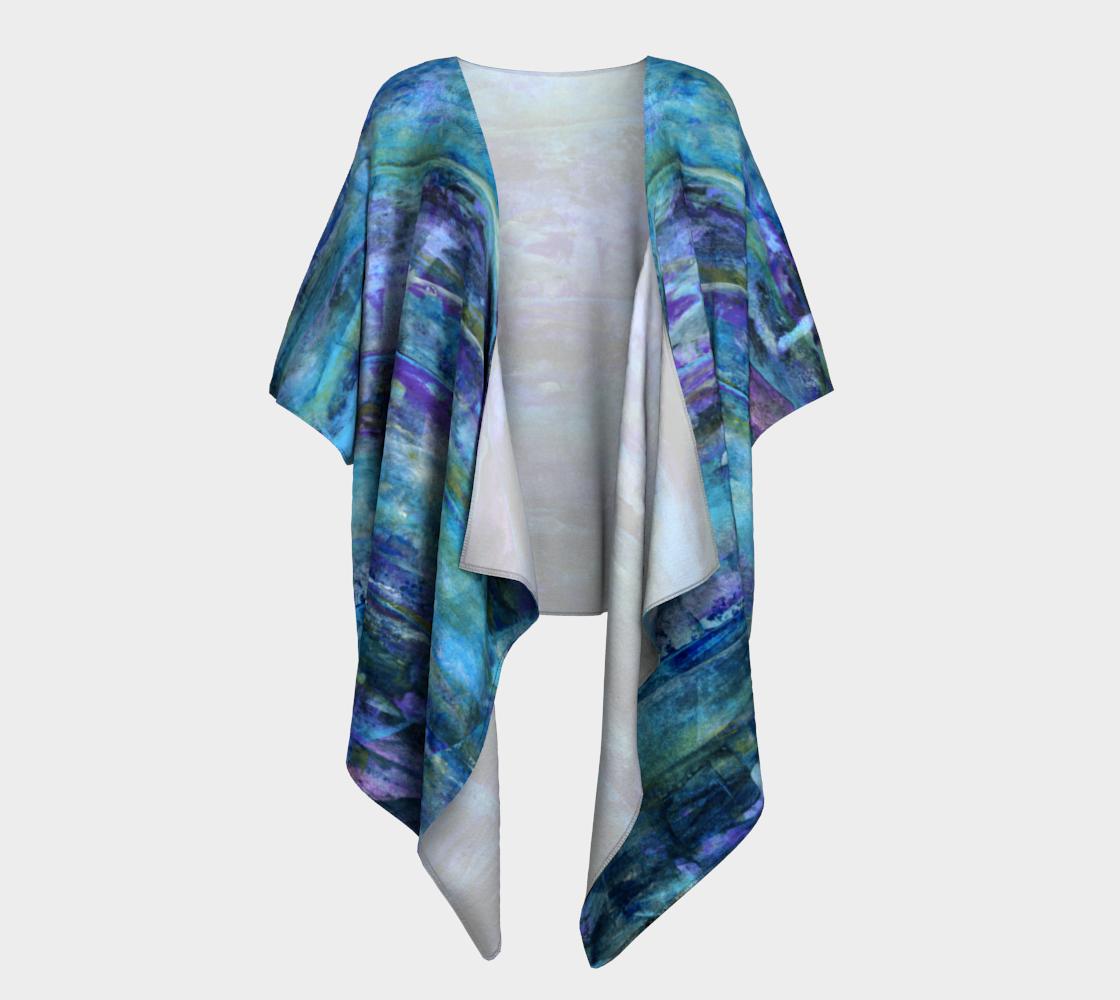 Aperçu de Foggy Night Draped Kimono