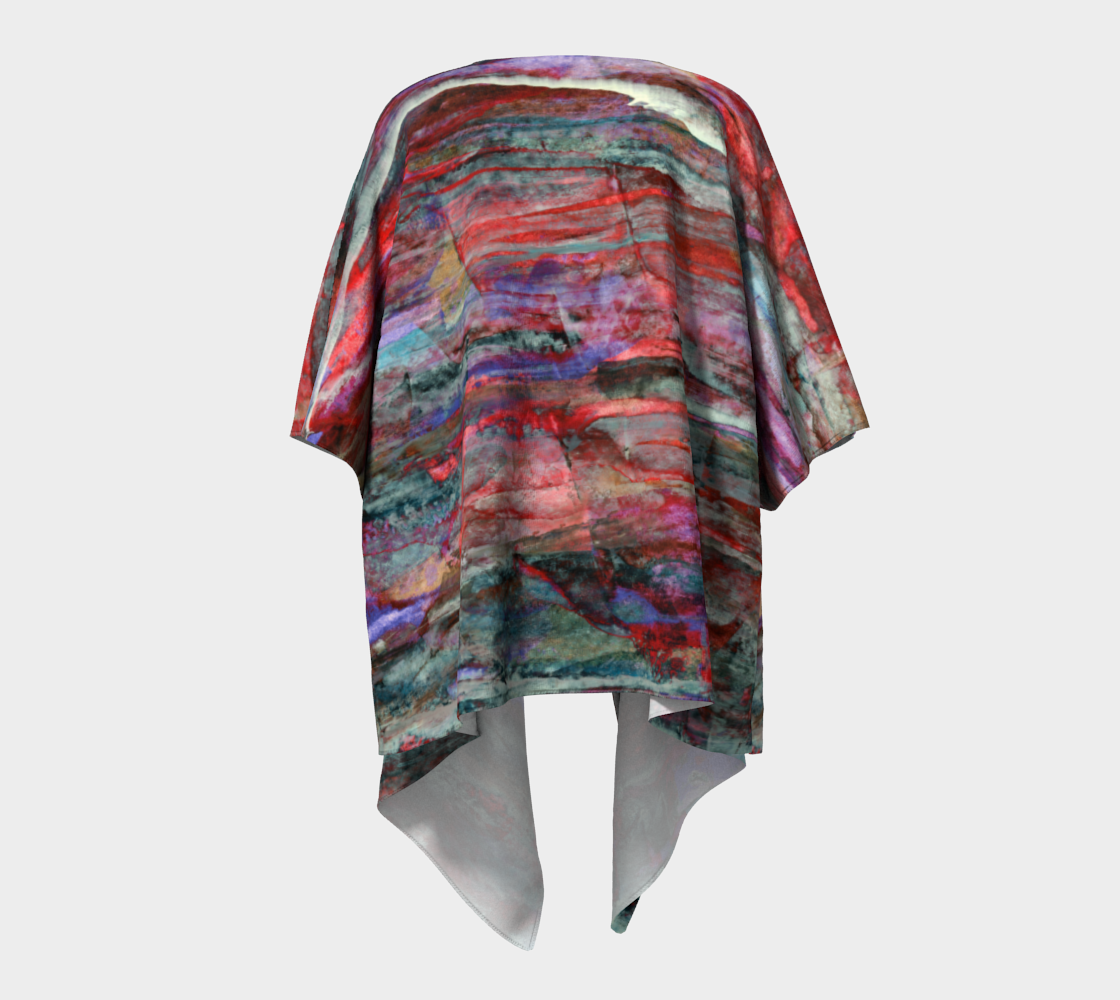 Red Sky Tonight Draped Kimono preview #4