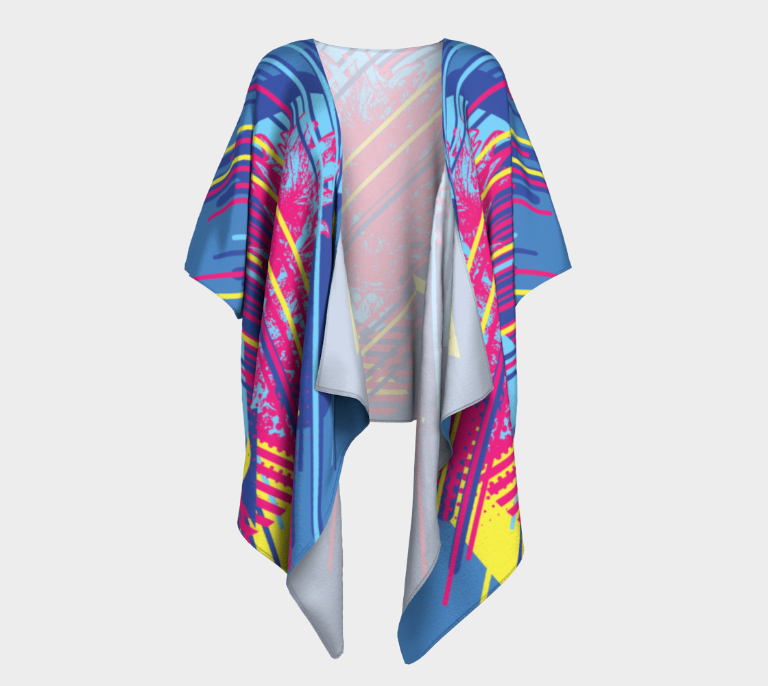Pineapple top with colorful geometric elements retro style design preview