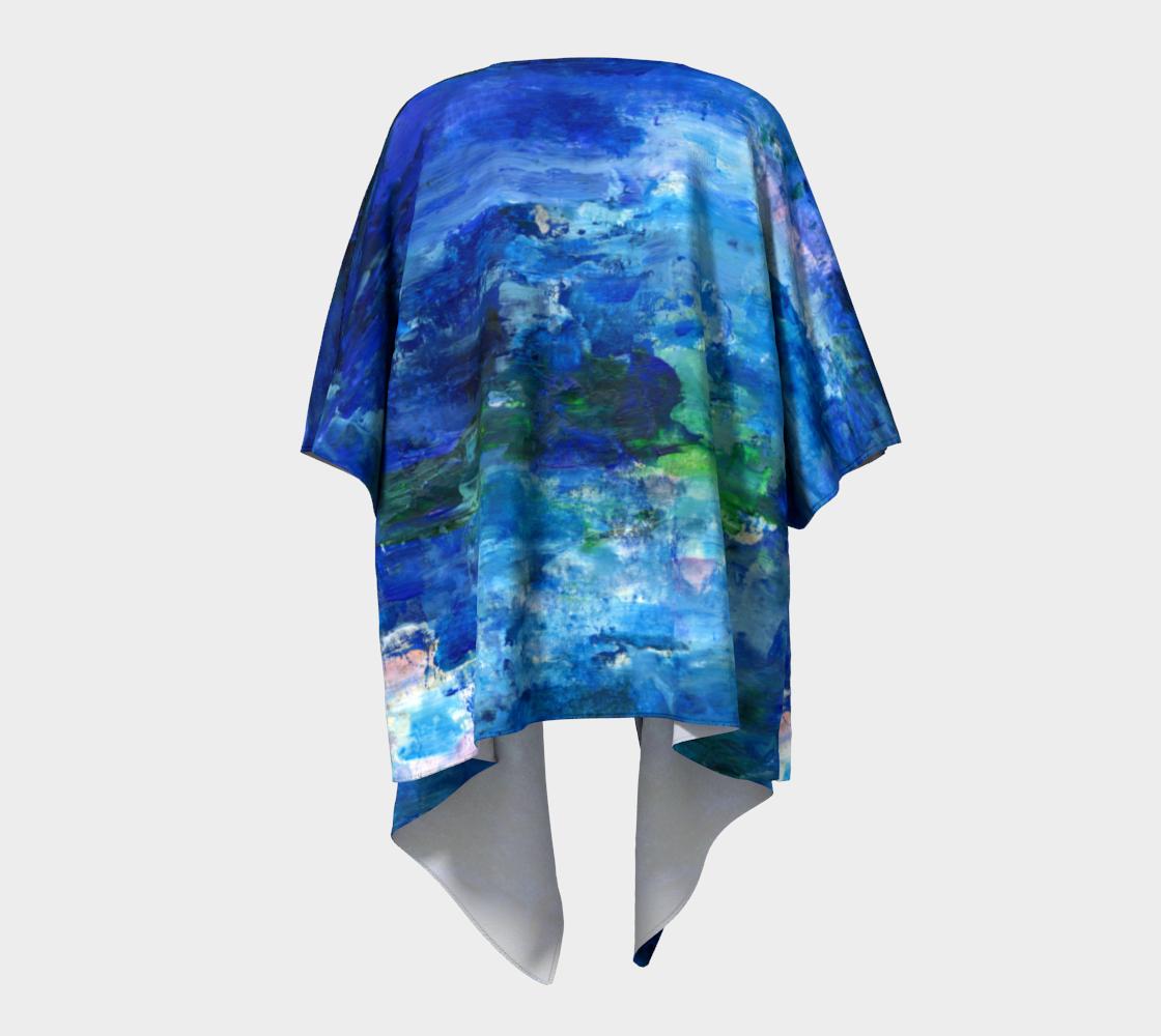 Blue Lagoon Draped Kimono preview #4