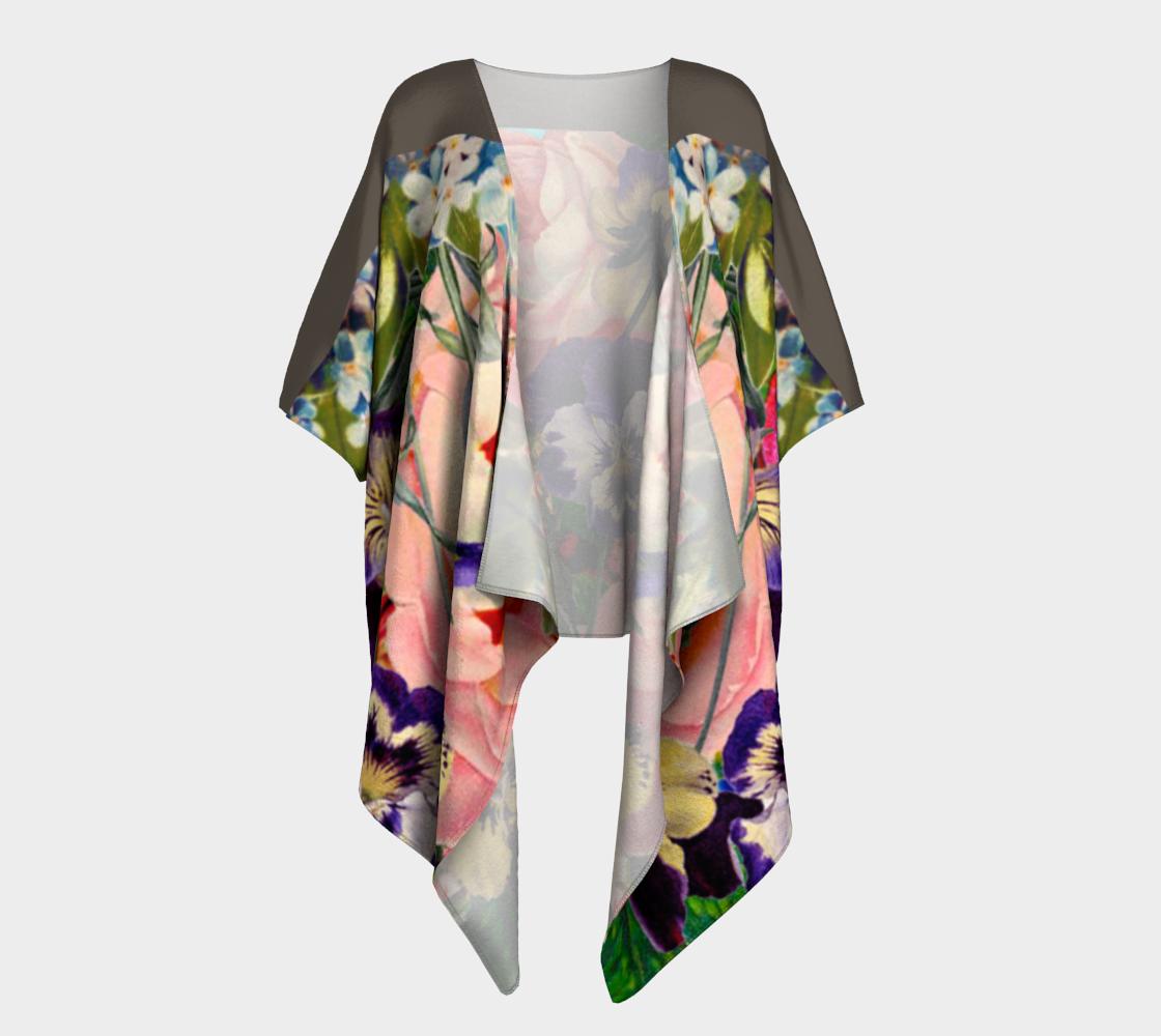 Elegant Vintage Floral Draped Kimono preview