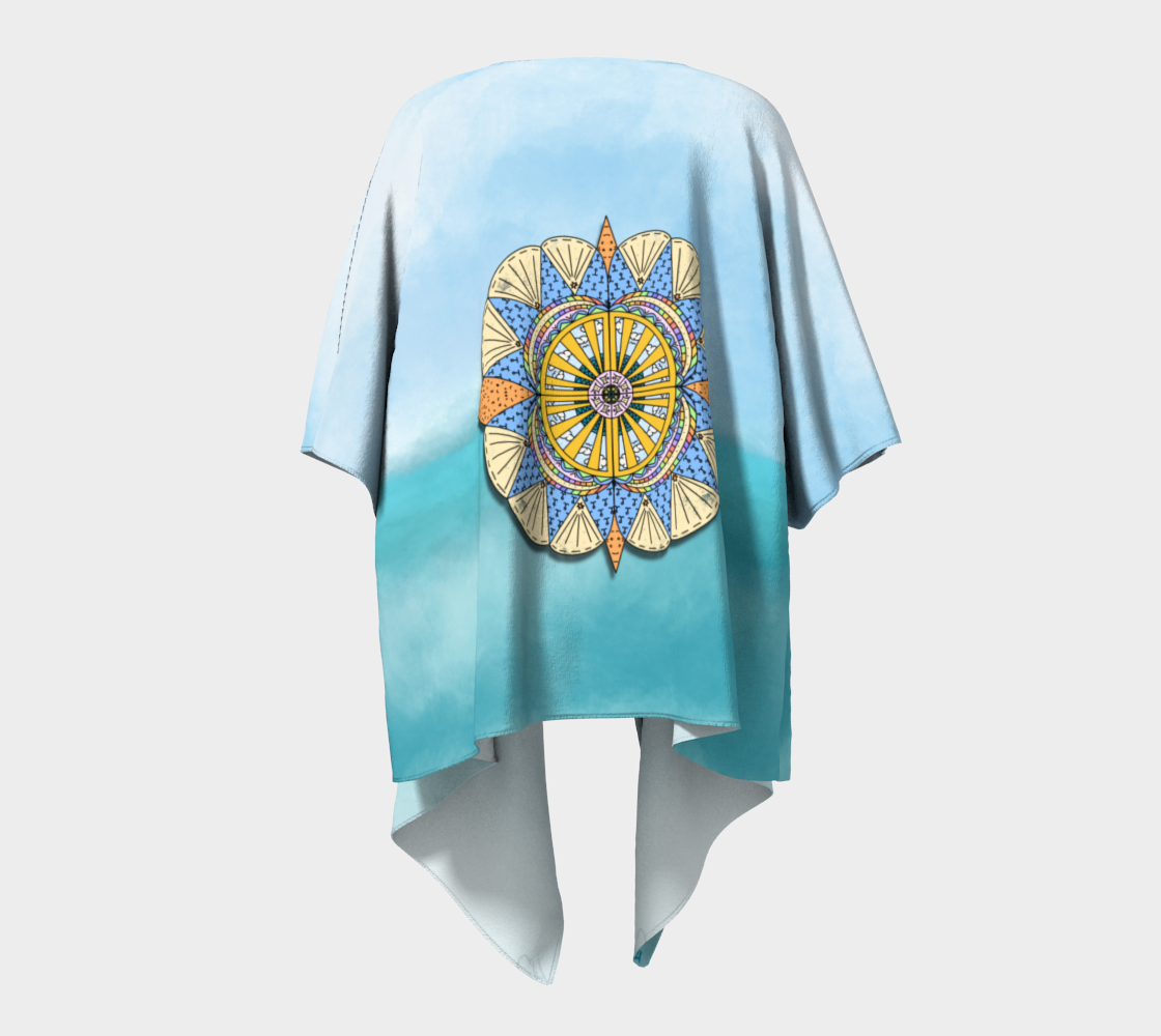 """Sail Away"" Beach Mandala Kimono preview #4"