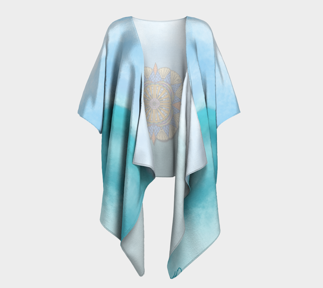 """Sail Away"" Beach Mandala Kimono preview #1"