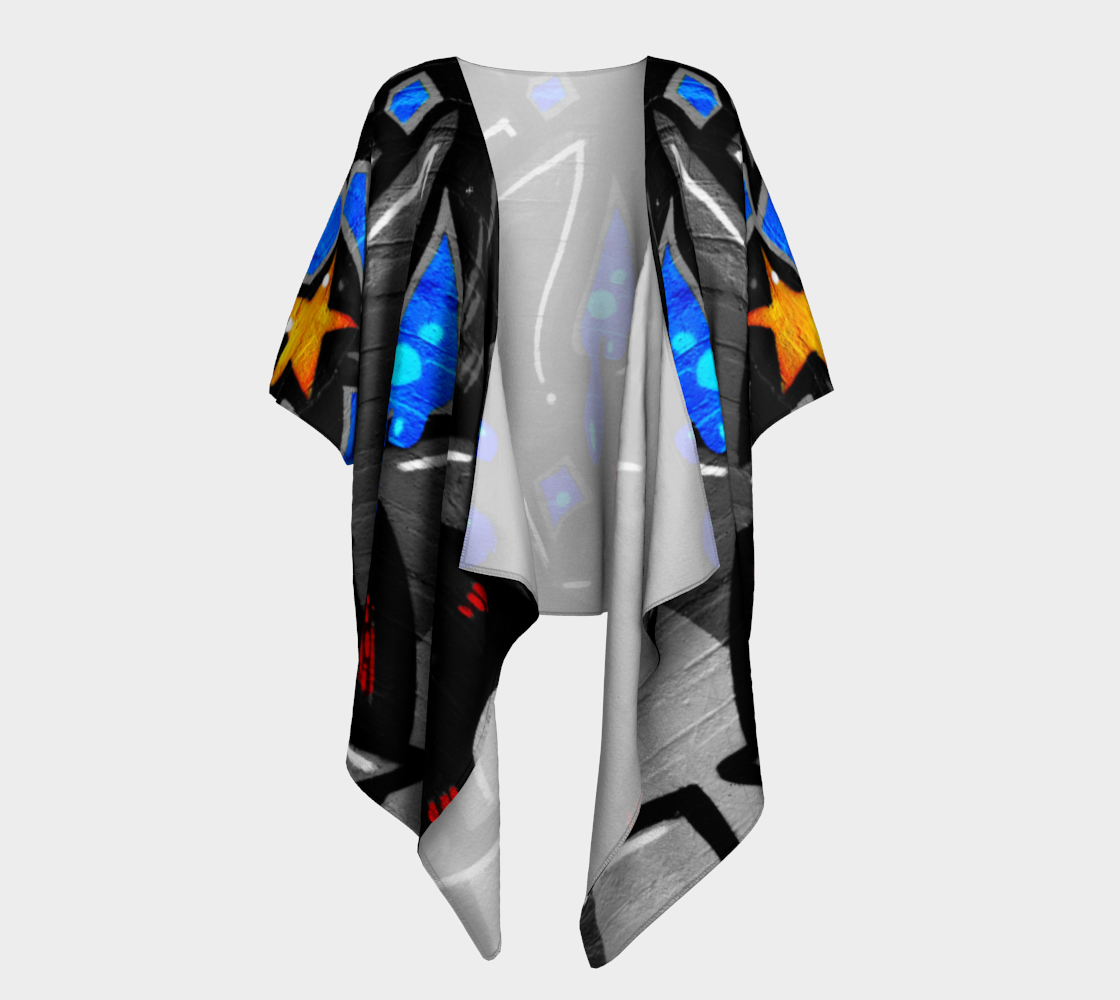 Graffiti 3 Draped Kimono preview