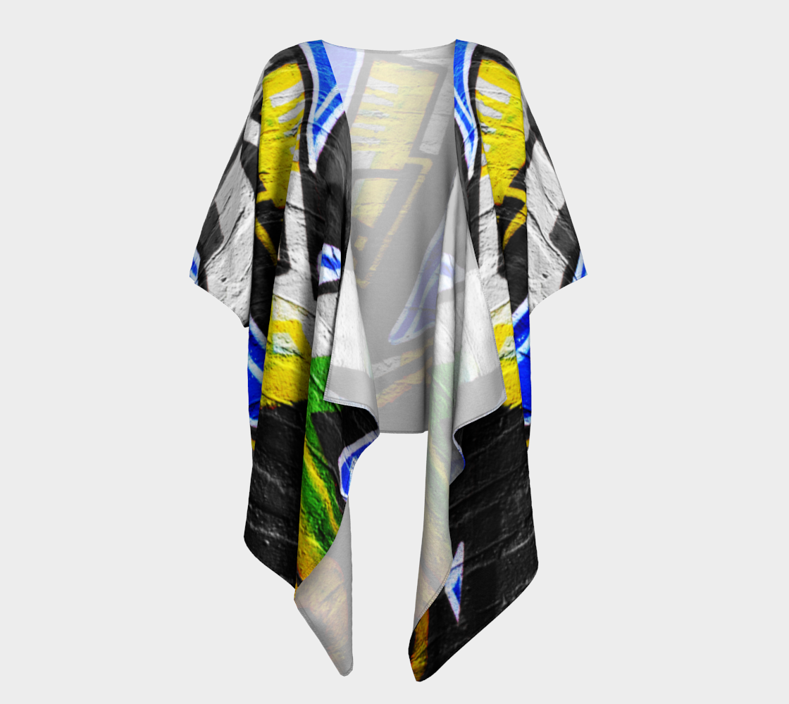 Graffiti 6 Draped Kimono preview
