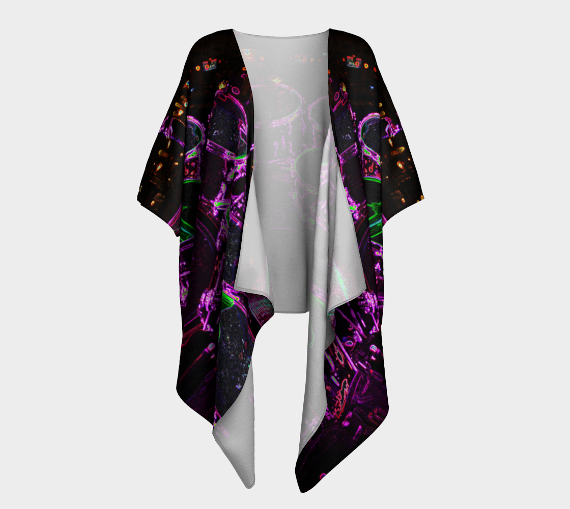Drums Draped Kimono preview