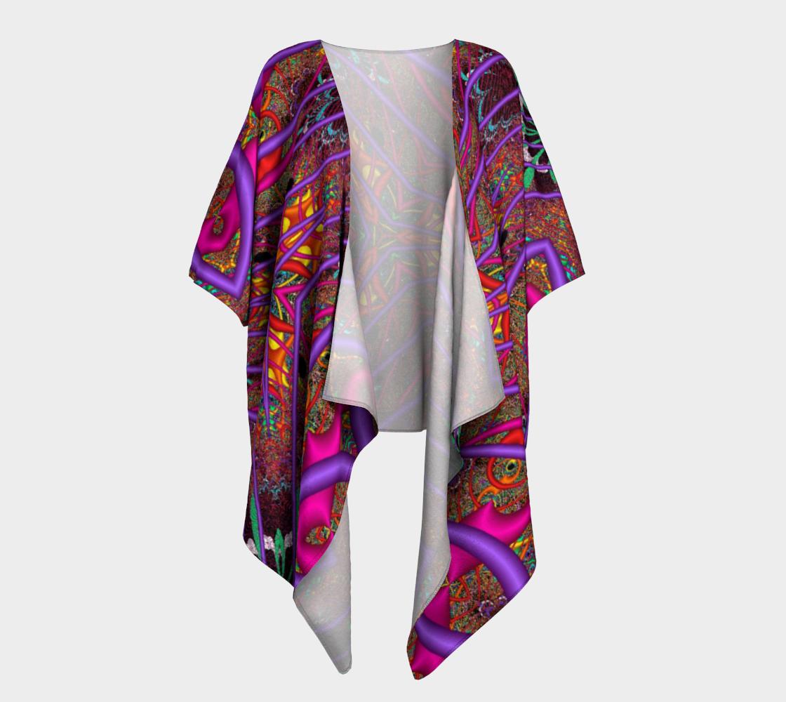 Aperçu de Wormhole Lace Draped Kimono