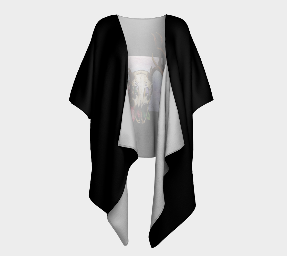 Deer Skull and Butterfly Draped Kimono preview