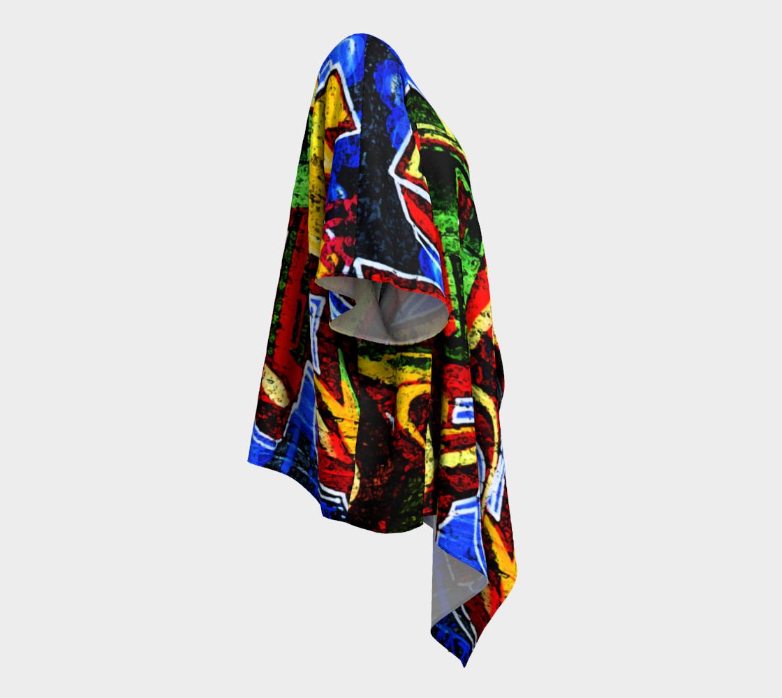 Graffiti 17 Draped Kimono preview #3