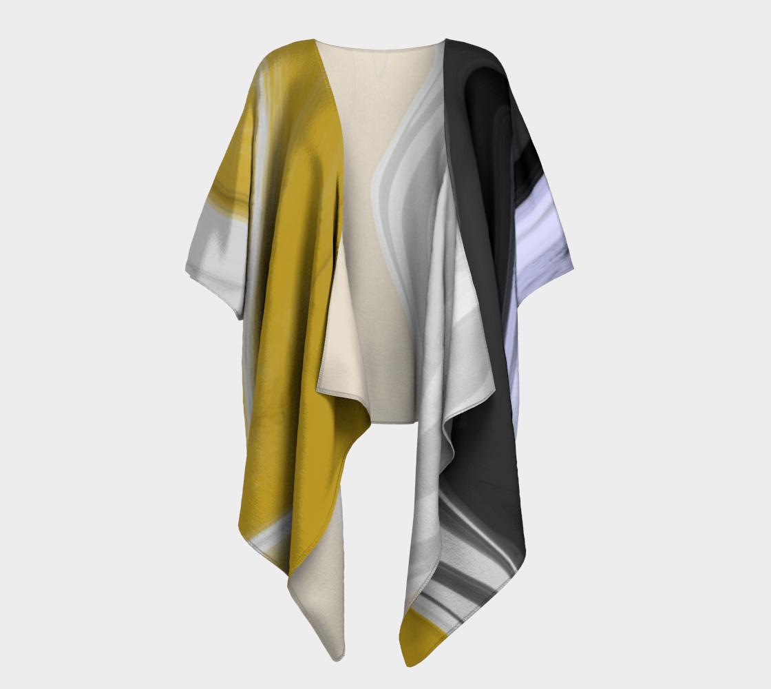 Liquid Black Gold Draped Kimono preview