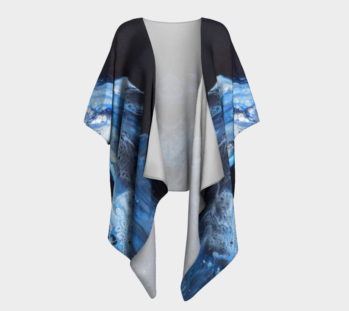 Aperçu de Flambée bleue - Kimono drapé