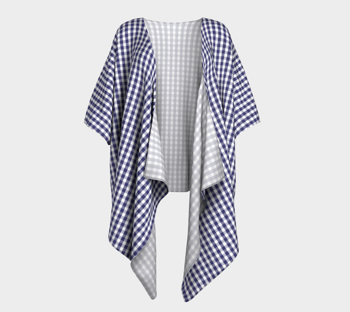 USA Flag Blue and White Gingham Checked preview