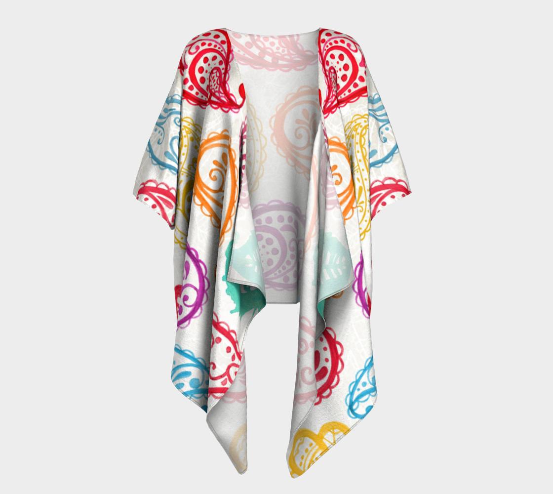 Paisley Drops LGBTQ+ Pride draped kimono preview