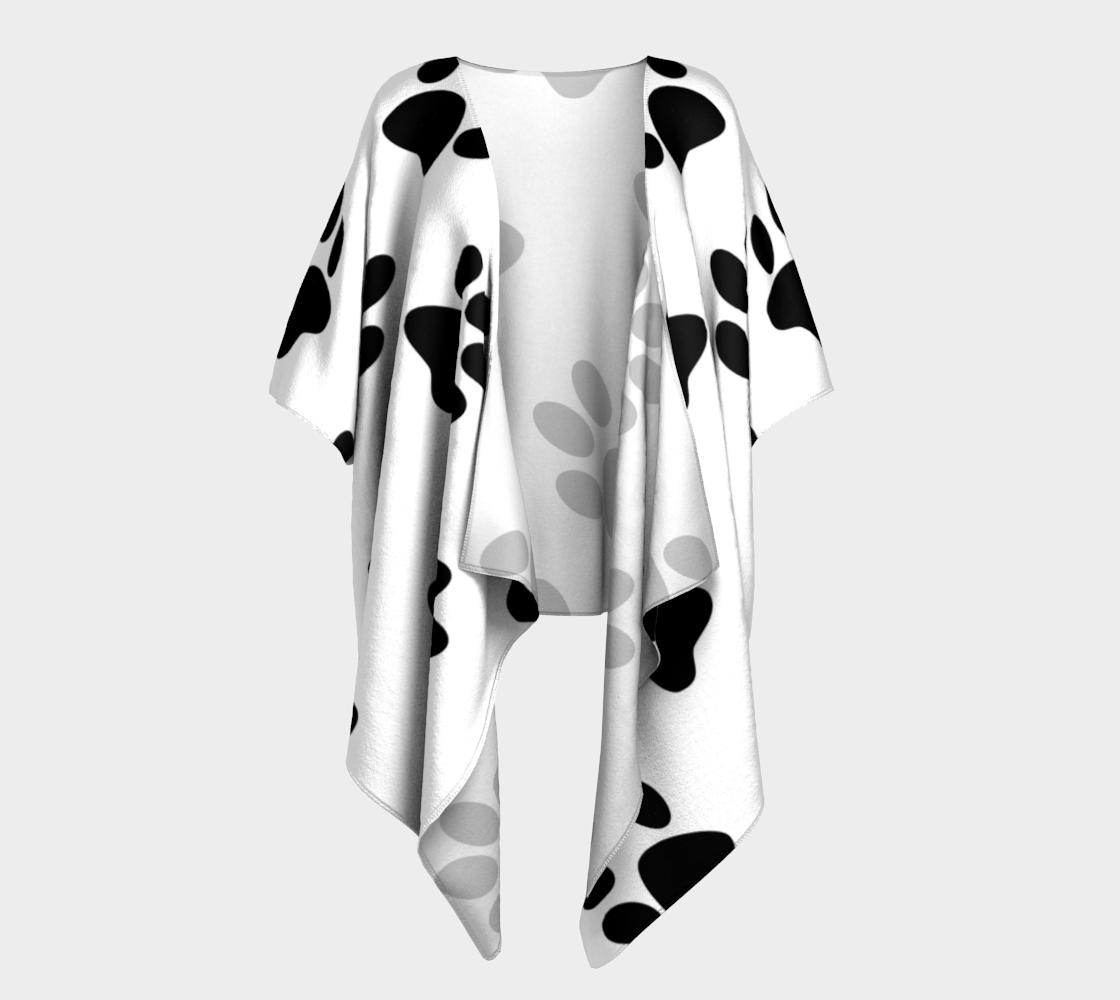 paw black draped kimono preview
