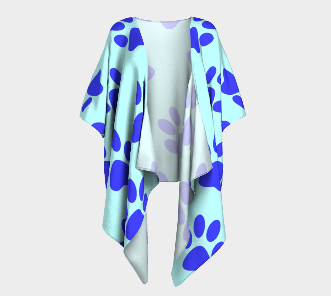 paw blue draped kimono preview