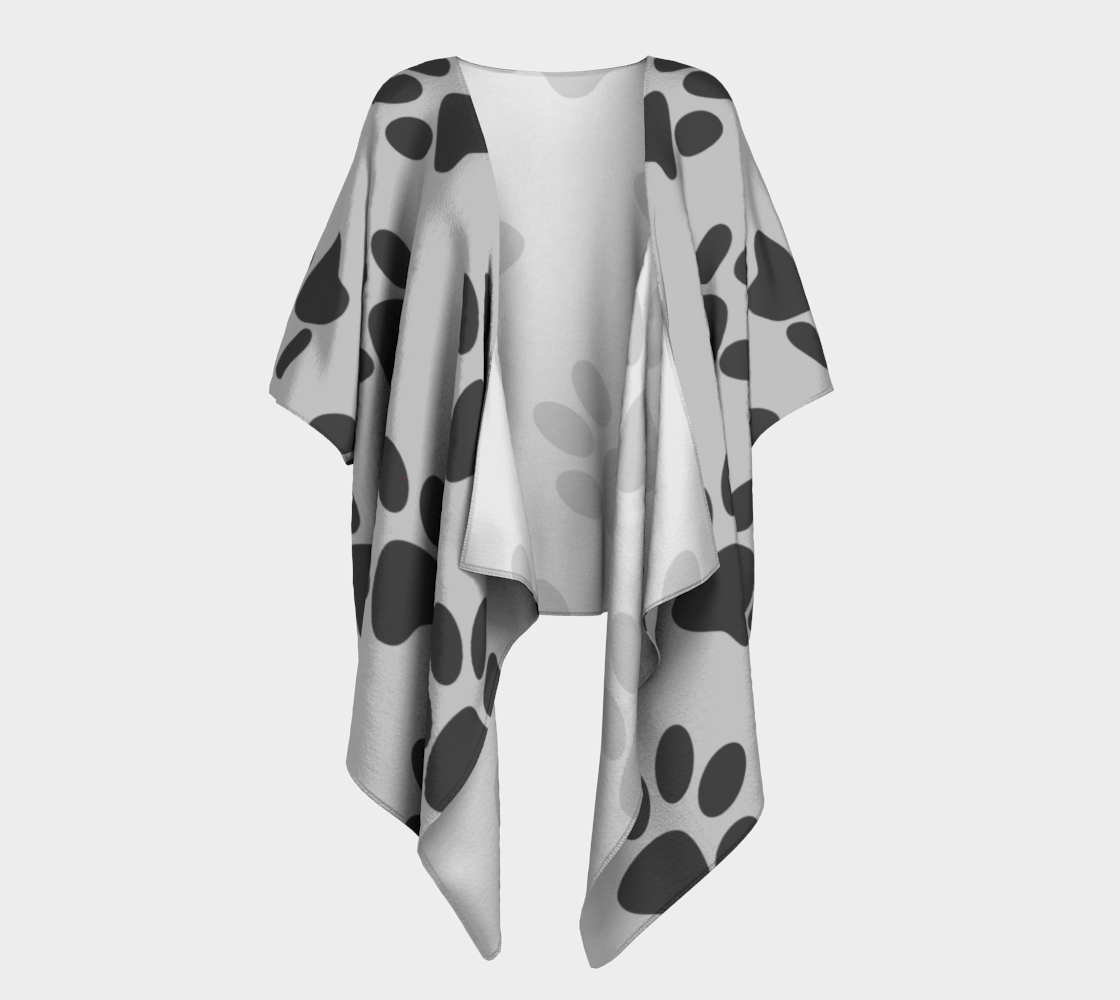 paw gray draped kimono preview