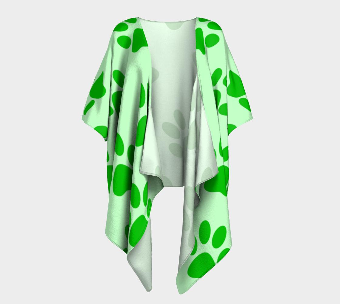 paw green draped kimono preview