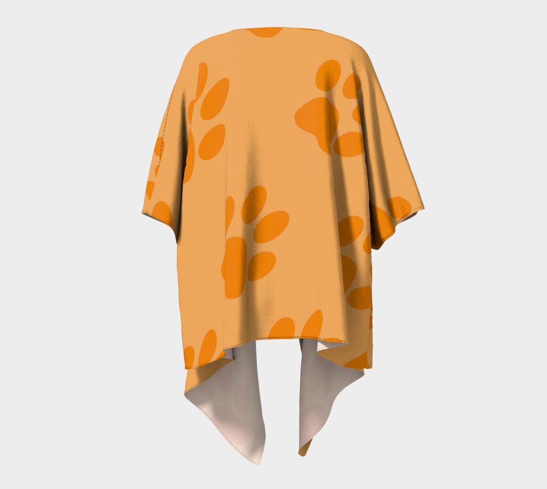 paw orange draped kimono preview #4