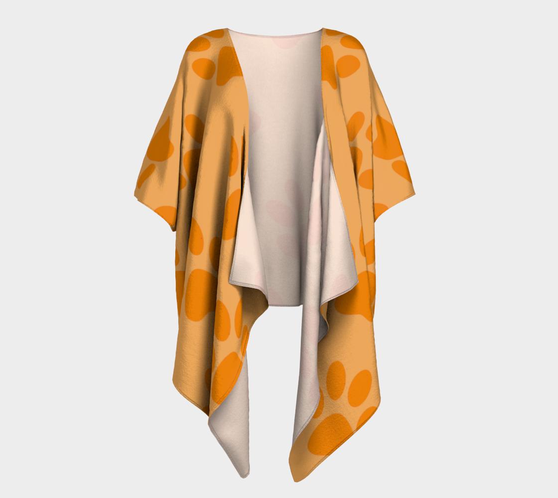 paw orange draped kimono preview #1