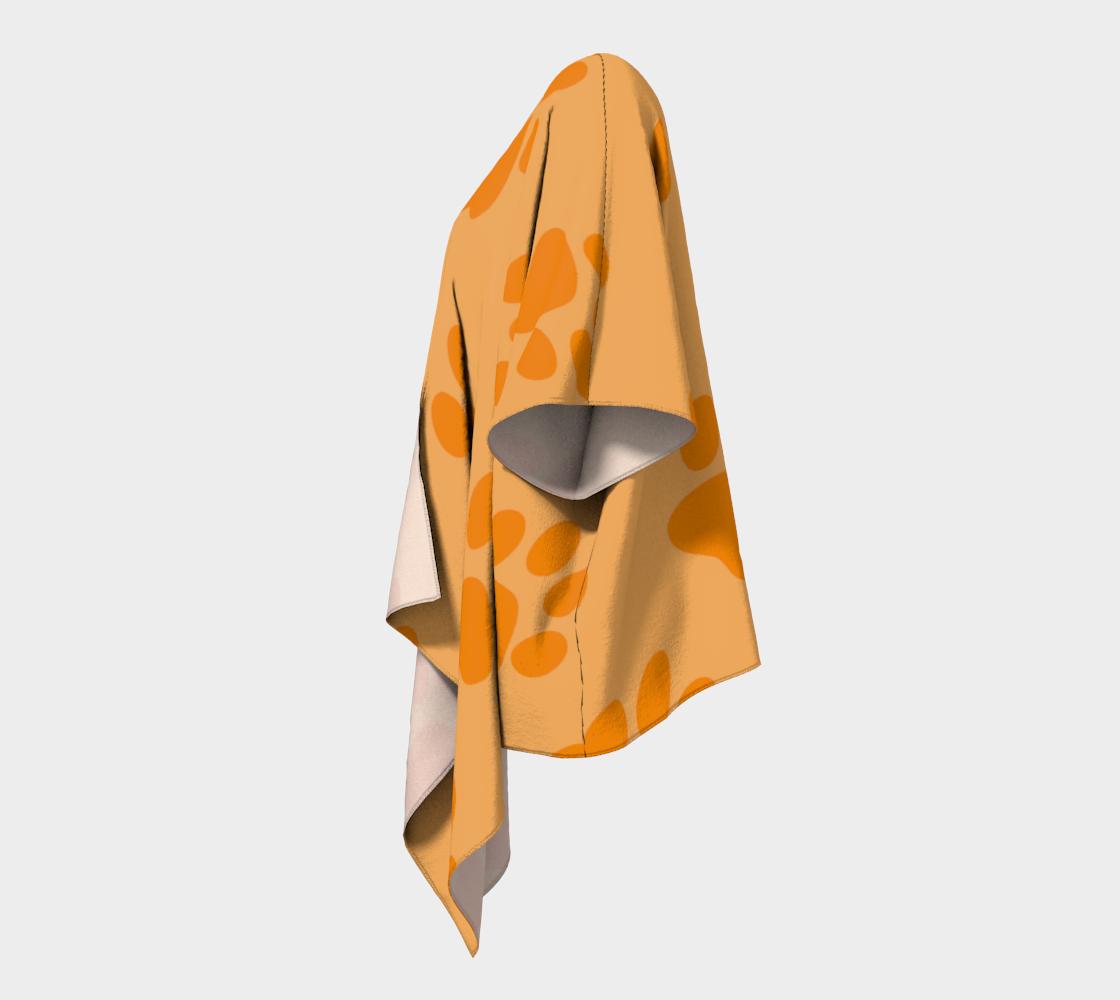 paw orange draped kimono preview #2