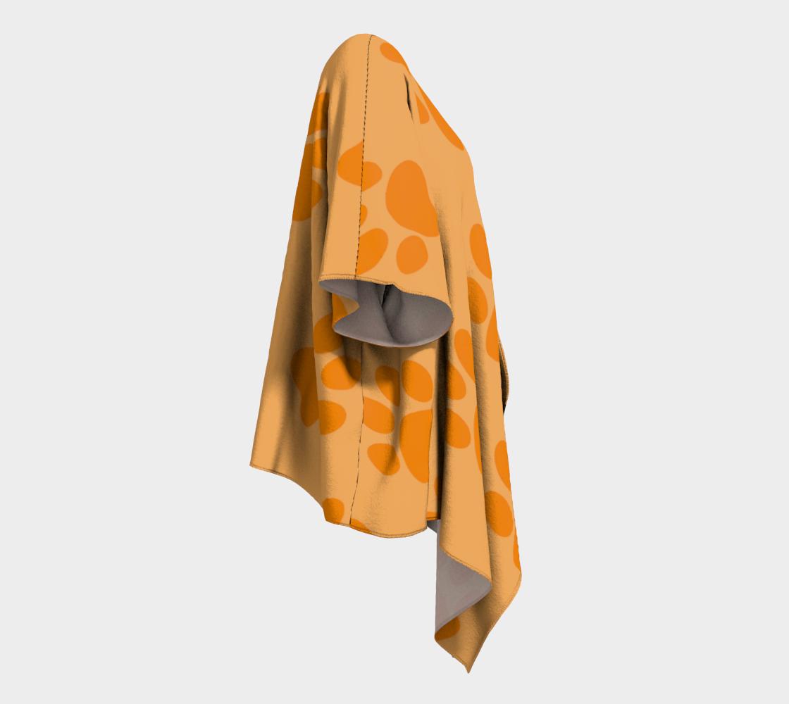 paw orange draped kimono preview #3
