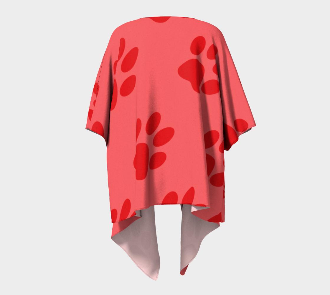 paw red draped kimono preview #4