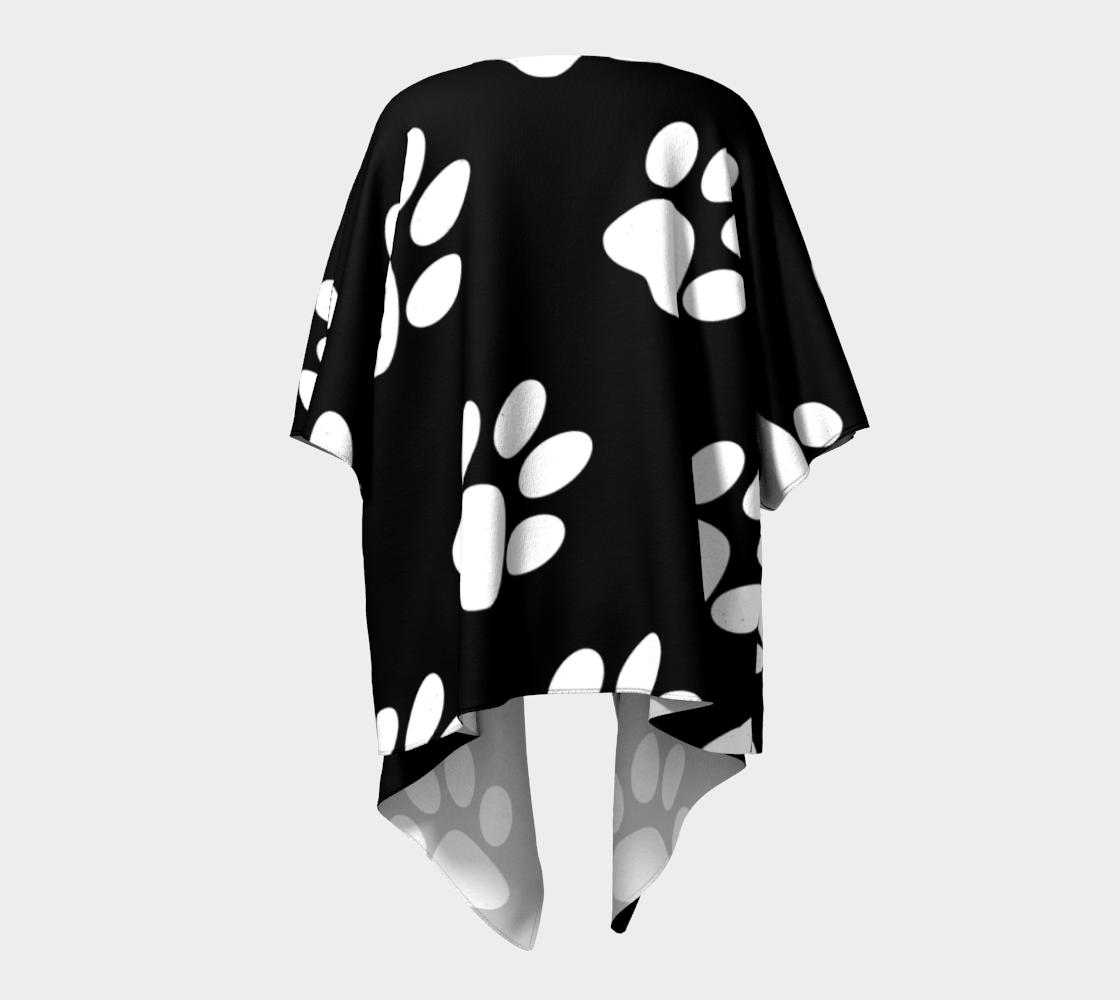 paw white draped kimono preview #4