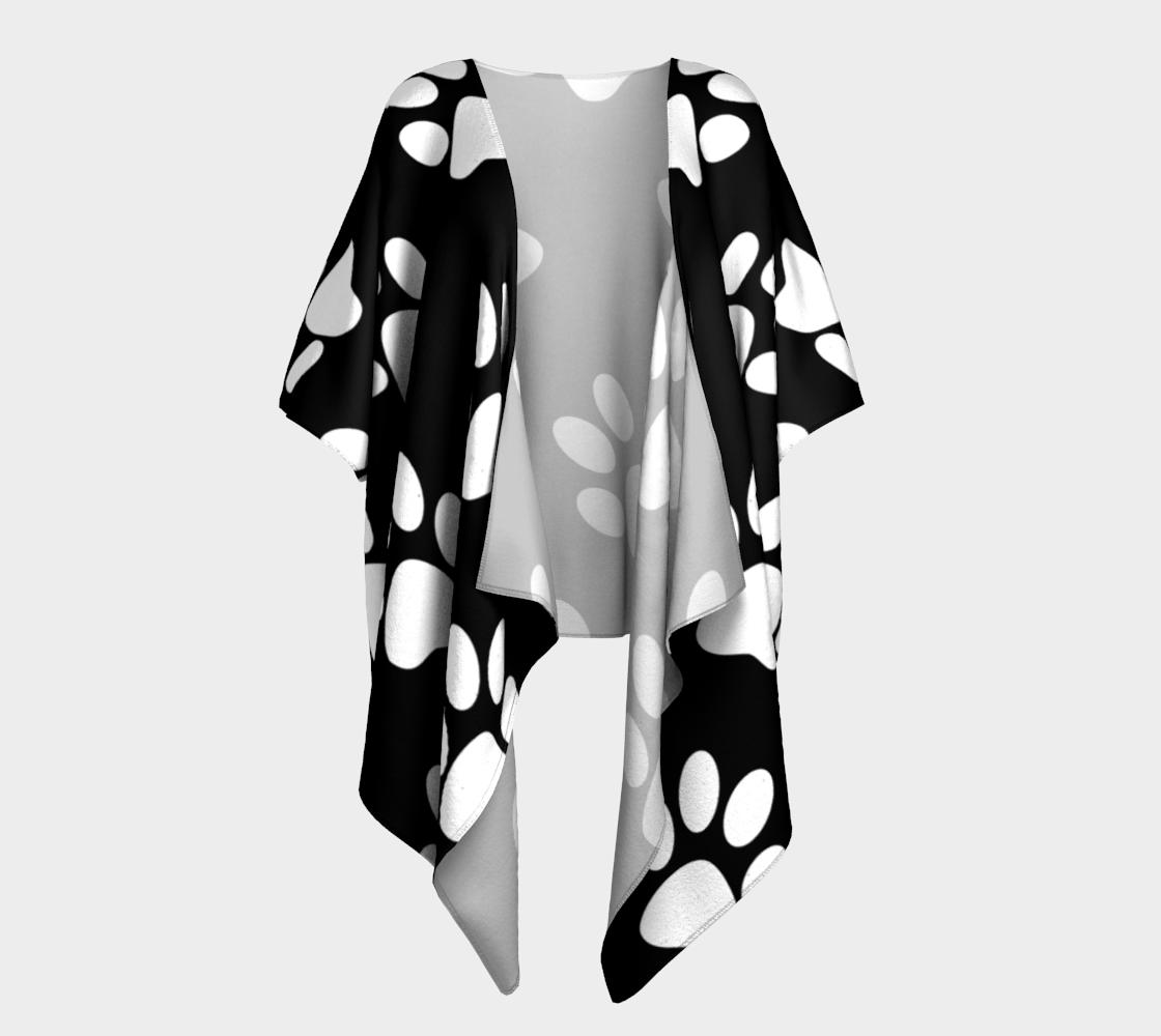 paw white draped kimono preview #1