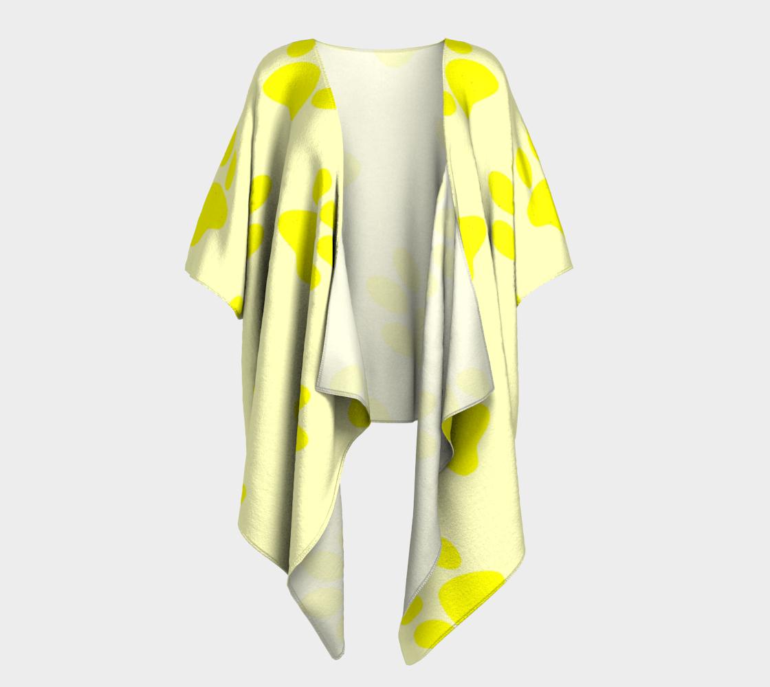 paw yellow draped kimono preview #1