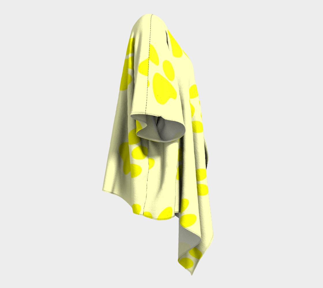 paw yellow draped kimono preview #3