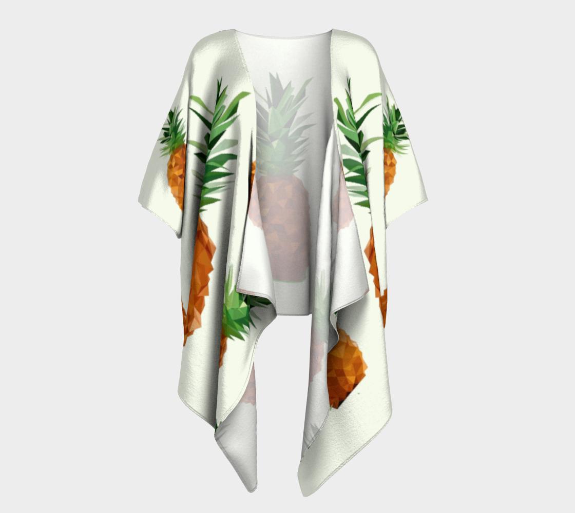 pineapple draped kimono preview