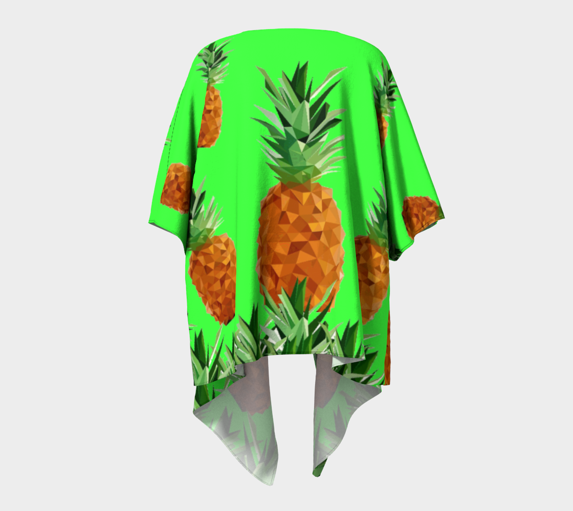pineapples with grass draped kimono preview #4