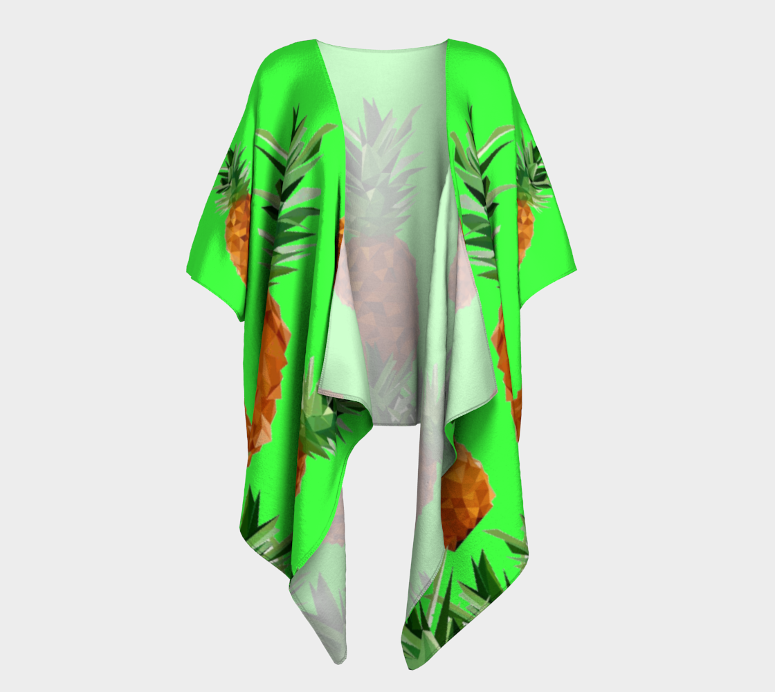 pineapples with grass draped kimono preview #1