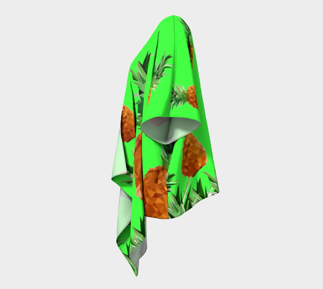 pineapples with grass draped kimono preview #2