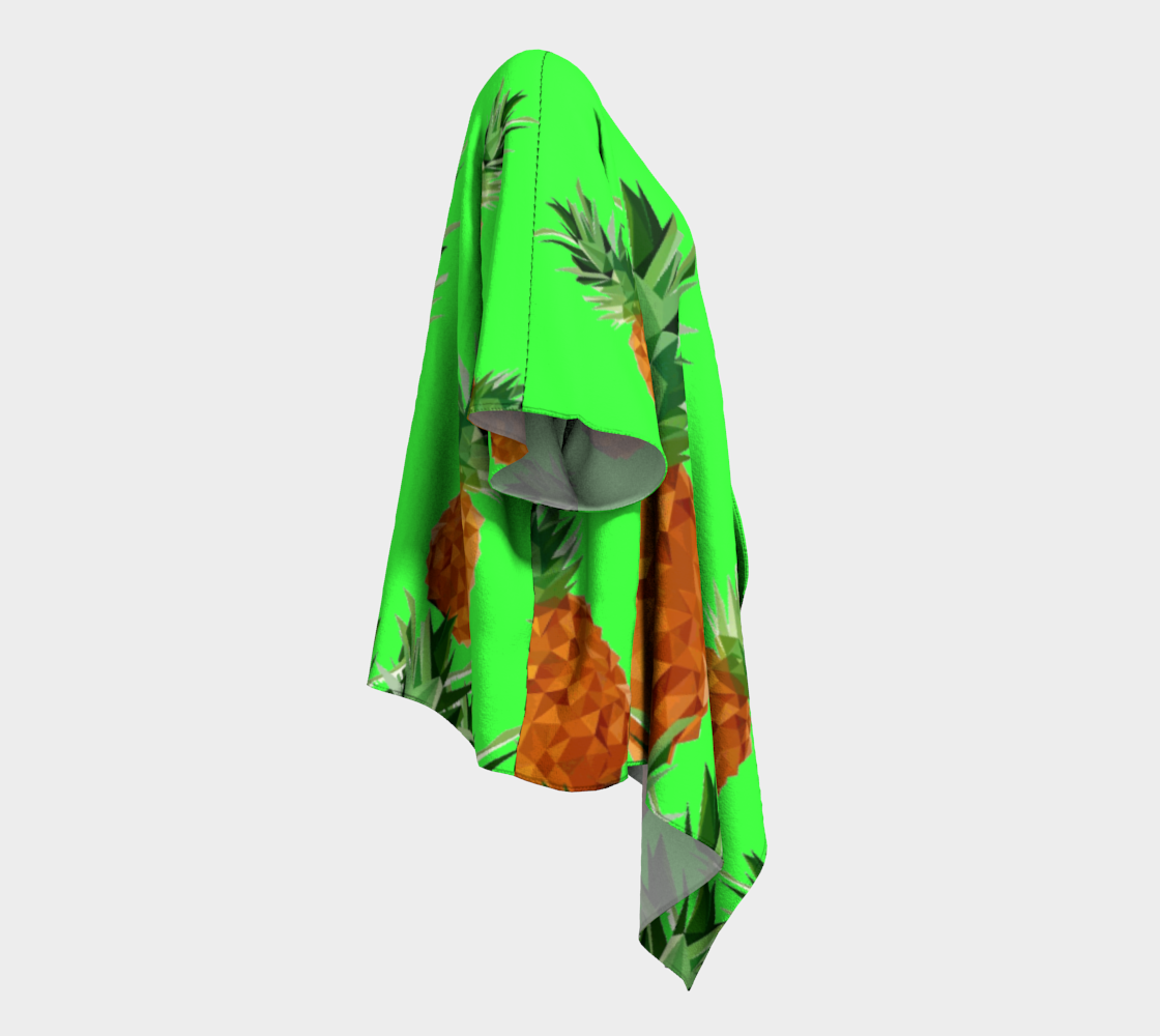 pineapples with grass draped kimono preview #3