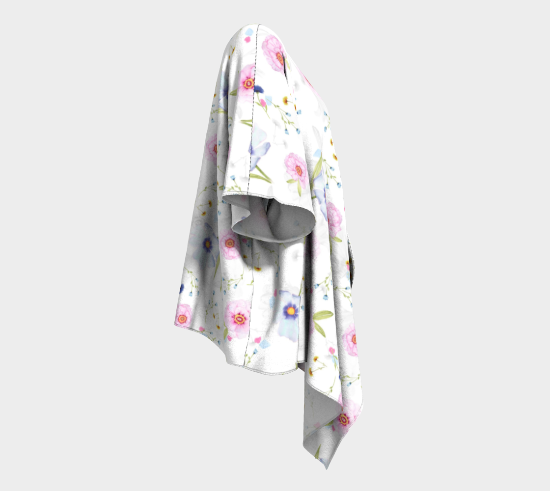 pink and blue floral draped kimono preview #3