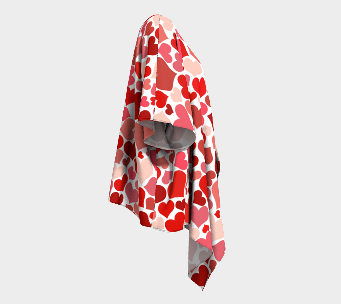 pink and red valentines love hearts draped kimono preview #3