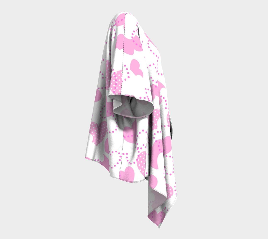 pink dotted hearts valentine draped kimono preview #3