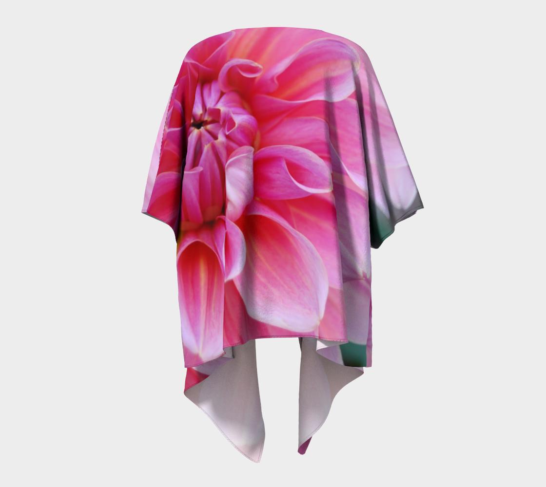 pink dahlia flower draped kimono preview #4