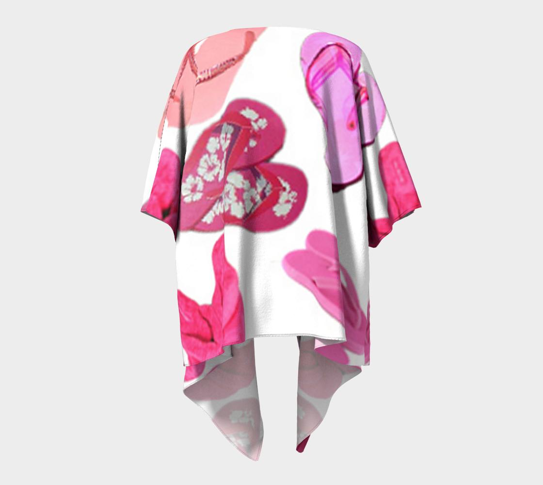 pink flip flops draped kimono preview #4