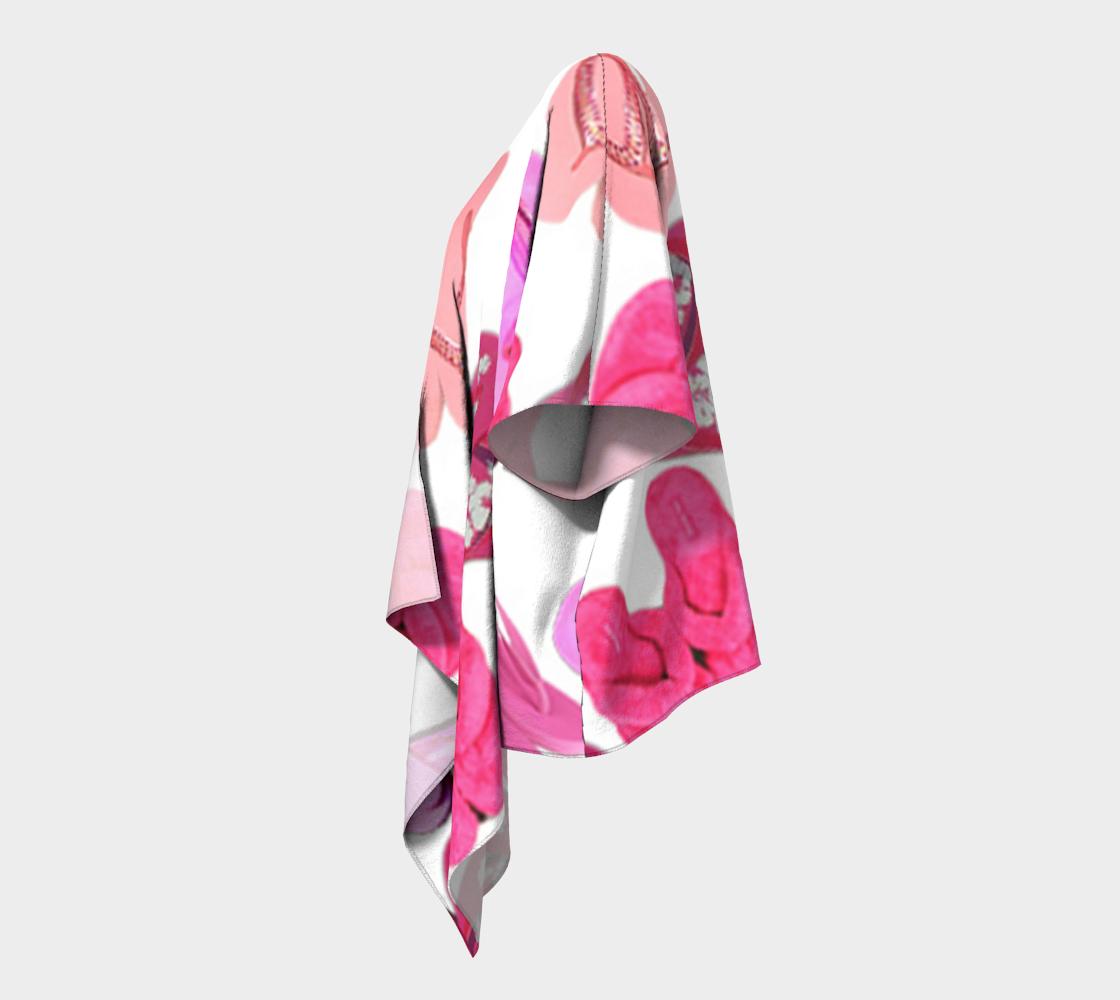 pink flip flops draped kimono preview #2