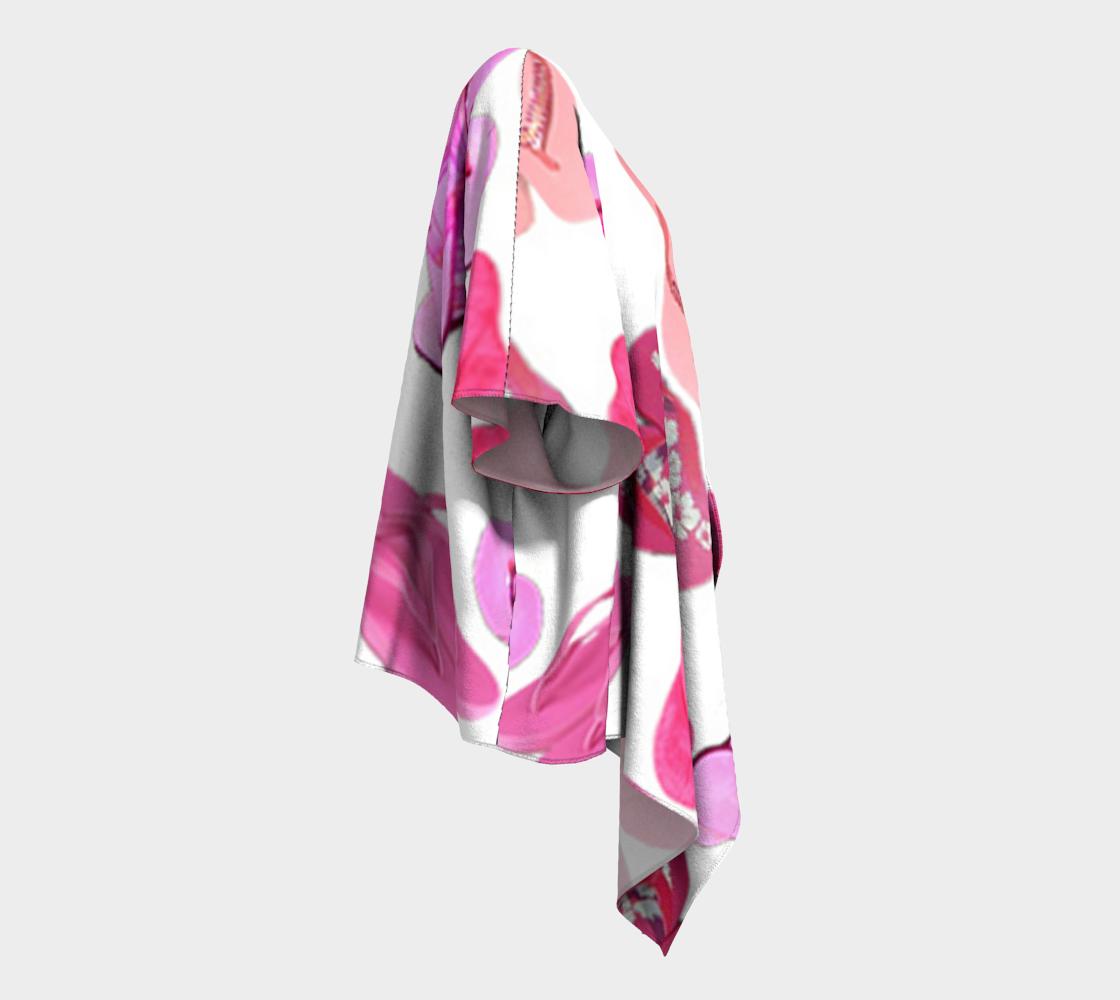 pink flip flops draped kimono preview #3